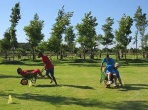 Boeresport team building barrow races
