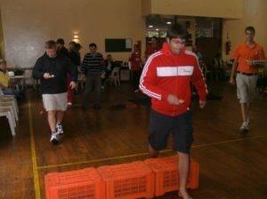 Boeresport team building egg race hurdle
