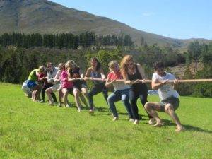 Boeresport team building pull race