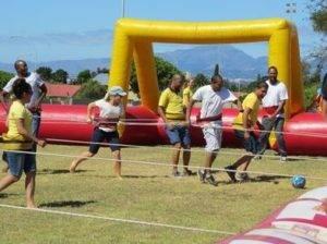Sports Day team giant foosball