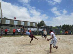 Sports Day team volleyball