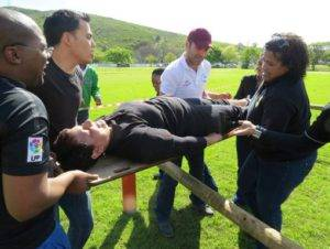 Survivor team building activity cape town