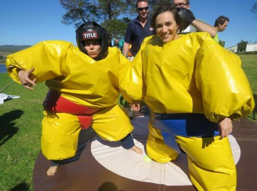 Sports Day sumo wrestling