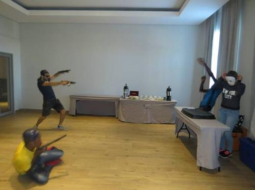 Movie making action